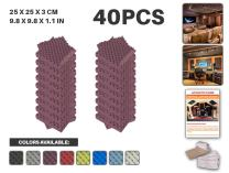 """Acepunch 40 Pack PURPLE Egg Crate Convoluted Acoustic Foam Panel DIY Design Studio Soundproofing Wall Tiles Sound Insulation 9.8"""" x 9.8"""" x 1.2"""" AP1052"""