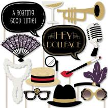 Big Dot of Happiness Roaring 20's - Twenties Art Deco Jazz 1920s Photo Booth Props Kit - 2020 Graduation and Prom Party - 20 Count