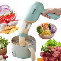 Noodle Maker Machine Electric, Portable Automatic Pasta Maker Machine Wireless Charging Noodle Cutter Handheld Homemade Pasta Maker Smart Spazele Pasta Maker Penne Spaghetti Pasta Making kit(Green)