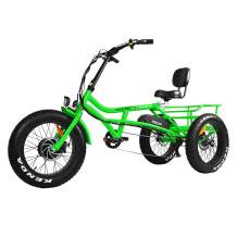 Addmotor Motan Electric Tricycle Beach Snow Bicycle Three Wheel 750W 48V Trike Semi-Recumbent E-Bike Lithium Battery M-360 3-Wheel Electric Bikes for Adult with Shimano 7 Speeds