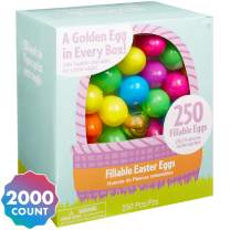 Party City Multi-Colored Fillable Easter Eggs, Plastic, 2,000 Count