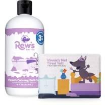 Rew's Bath Time - Calming Natural Bubble Bath with Children's Bath Book (Lavender) (16 ounce)