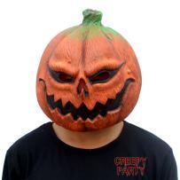 CreepyParty Deluxe Novelty Halloween Costume Party Props Latex Pumpkin Head Mask (Pumpkin) Orange
