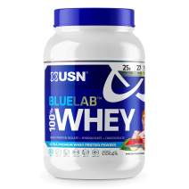 USN Supplements BlueLab 100 Percent Whey Protein Powder - Keto Friendly, Low Carb and Low Calorie