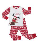BeautyIn Kids Cotton Pjs Long Sleeve Pajama Set Christmas Sleepwear Homewear