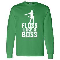 Floss Like A Boss - Flossin Dance Funny Emote Adult Long Sleeve T Shirt