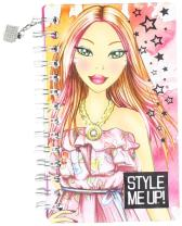 Style Me Up - Note Pad for Kids - Set of Sketch Pages, Stencil and Sticker Sheet - SMU-1416