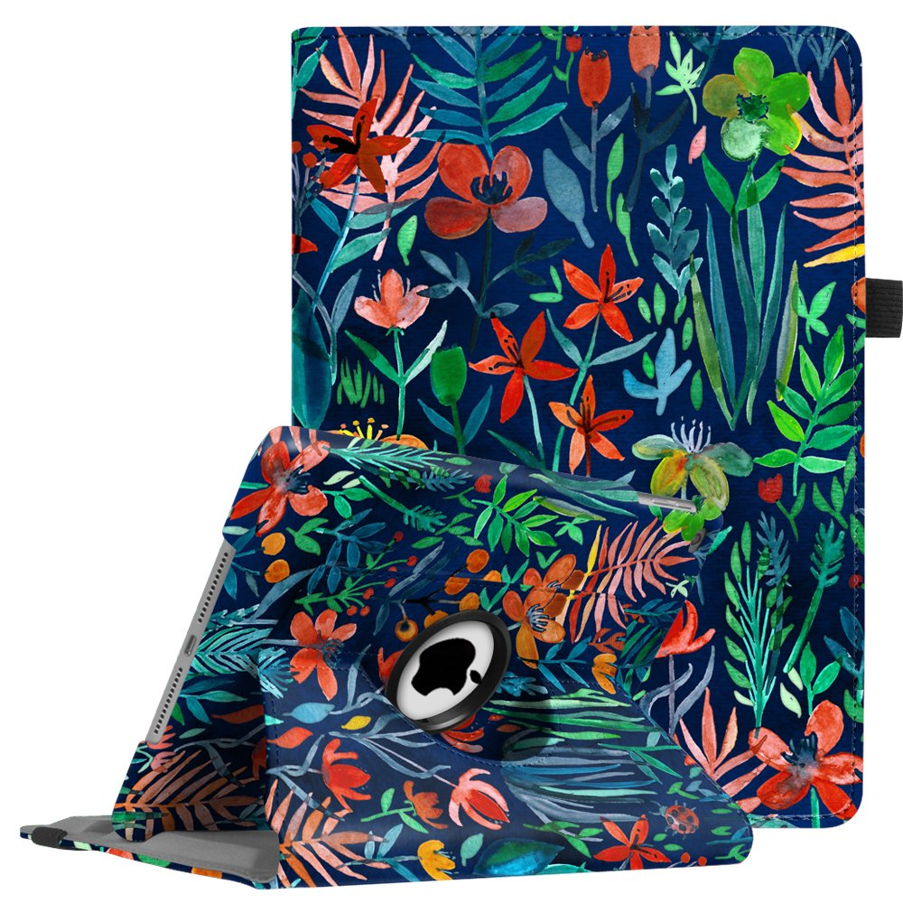 Fintie Case for iPad 9.7 2018 2017 / iPad Air 2 / iPad Air - 360 Degree Rotating Stand Protective Cover with Auto Sleep Wake for iPad 9.7 inch (6th Gen, 5th Gen) / iPad Air 2 / iPad Air, Jungle Night