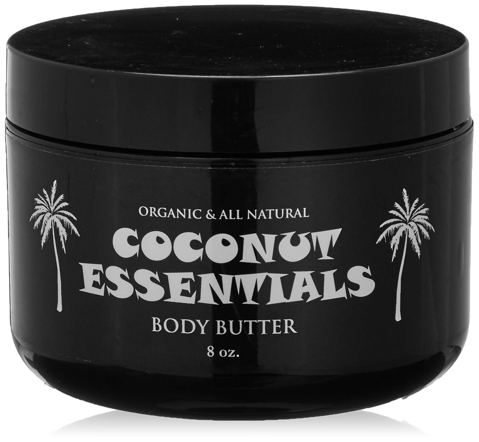 Coconut Essentials Moisturizing Body Butter - Coconut Oil, Vitamin E, Shea, Peppermint, Almond, Cocoa and Sunflower - for Beautiful and Glowing Skin!! 8 oz