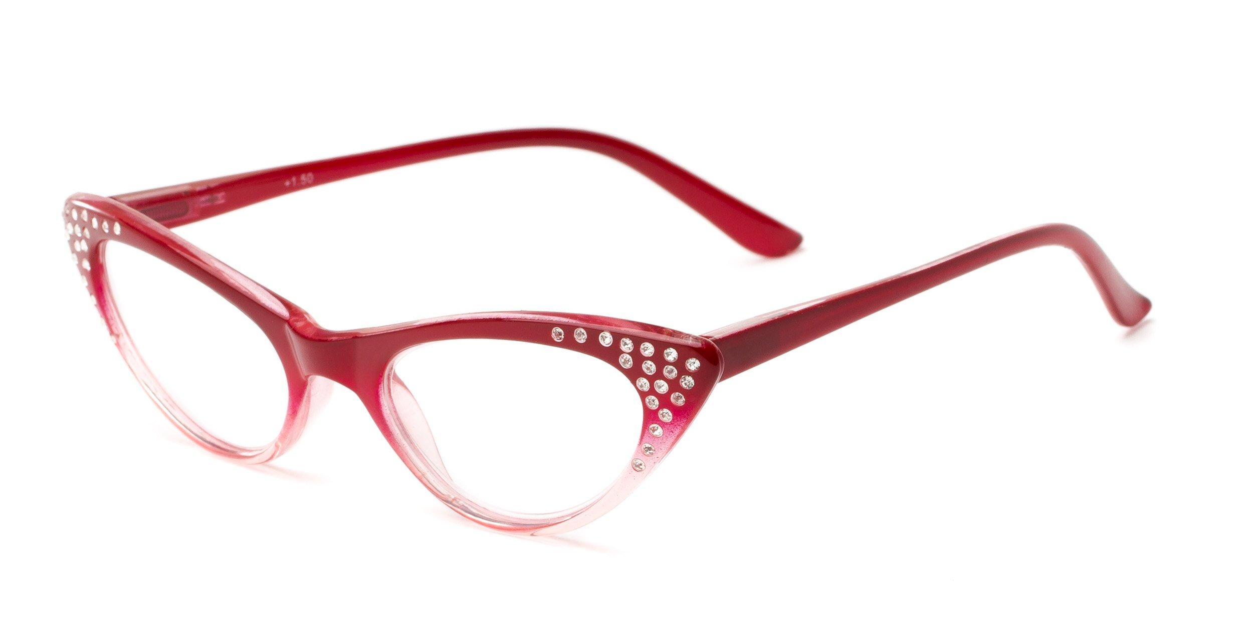 Readers.com Reading Glasses: The Paulina Reader, Plastic Cat Eye Style for Women