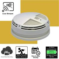 Discover IT   Wi-Fi Hidden Camera Spy Cam Home Surveillance Nanny Cam Smoke Detector (Bottom View) with Cloud Video Recording, Battery Operated