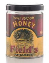 Our Own Candle Company Milk & Honey Scented Candle in 13 Ounce Tin with a Vintage Honey Fields Label by Linda Spivey