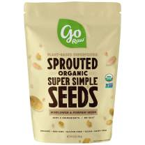 Go Raw Unsalted Sunflower and Pumpkin Seeds, Sprouted & Organic, 14oz Bag | Keto | Vegan | Gluten Free Snacks | Superfood