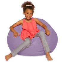 Posh Beanbags Big Comfy Bean Bag Posh Large Beanbag Chairs with Removable Cover for Kids, Teens and Adults Polyester Cloth Puff Sack Lounger Furniture for All Ages, 27in, Heather Lavender