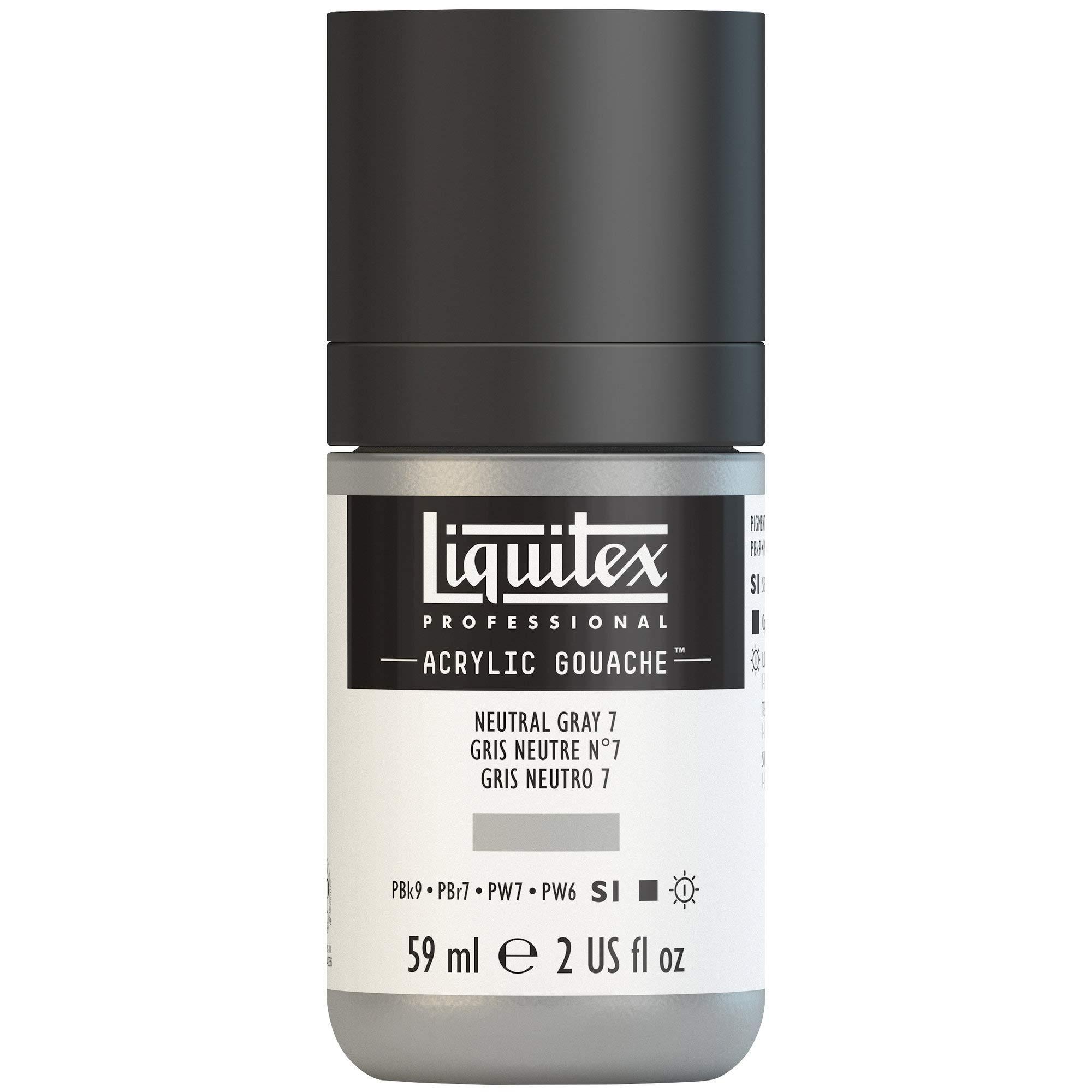 Liquitex Professional Acrylic Gouache 2-oz bottle, Neutral Grey 7