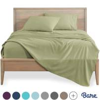 Bare Home California King Sheet Set - 1800 Ultra-Soft Microfiber Bed Sheets - Double Brushed Breathable Bedding - Hypoallergenic – Wrinkle Resistant - Deep Pocket (Cal King, Sage)
