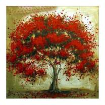 MXJSUA 5D Diamond Painting Full Round Drill Kits for Adults Pasted Arts Craft for Home Wall Decor Falling Flower Tree 12x12in