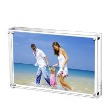 AmeiTech Acrylic Photo Frames,3.5x5'' Double Sided Magnetic Picture Frame, Desktop Frameless Postcard Display