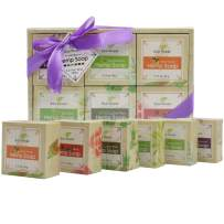 ECO finest Hemp Oil Soap Bars Sets with Lavender, Peppermint, Sweet Orange, Tea Tree, Aloe Vera & Rose(6 Bars, 3.17 oz each) - Handmade with 100% All Natural, Non-GMO Ingredients