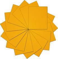 "Threadart Yellow 10"" x 12"" Heat Transfer Vinyl Precut Sheets | Solid Colors | 15 Sheets | For Silhouette Cameo Cricut |HTV"