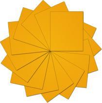 "Threadart Yellow 10"" x 12"" Heat Transfer Vinyl Precut Sheets   Solid Colors   15 Sheets   For Silhouette Cameo Cricut  HTV"