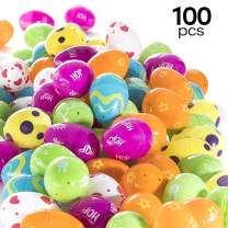 100 Count Easter Eggs Colorful Designed Fillable Printed Easter Eggs Easter Egg Hunt Fillable Eggs