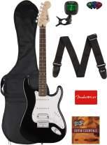 Fender Squier Bullet Stratocaster HSS Hard Tail Guitar - Laurel Fingerboard, Black Bundle with Gig Bag, Tuner, Strap, Picks, and Austin Bazaar Instructional DVD