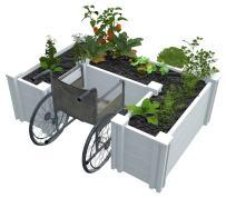 Vita Gardens VT17106 4x6 Accessible Raised Garden Bed