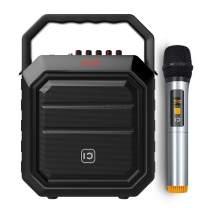 W WINBRIDGE Wireless Speaker and Microphone, Portable PA System, Bluetooth Karaoke Machine Speaker 30W for Home KTV, Outdoor Party, Live Performance, Teaching, Presentation H2 Black