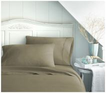 ienjoy Home BC-4PC-FULL-TAUPE 4 Piece Becky Cameron Double Brushed Microfiber Bed Sheet Set, Full, Taupe