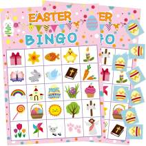 Fancy Land Easter Bingo Game 24 Players for Kids Party Supplies
