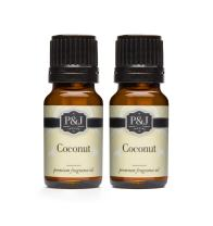 P&J Trading Coconut Fragrance Oil - Premium Grade Scented Oil - 10ml - 2-Pack