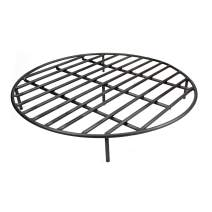 Hi-Flame GR30 Round Fire Pit Firewood Grate with Five Removable Legs for Outdoor Fireplace and Firepits (30'' Dia.), Paint Black