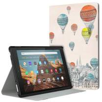 Dadanism Case Fits All-New Amazon Fire HD 10 Tablet Case (7th and 9th Generations, 2017 and 2019 Releases), Lightweight Stand Cover with Auto Wake/Sleep - City Balloon