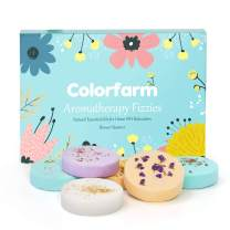 Colorfarm Shower Steamers-6X 240g Shower Bombs for Relaxation,Great Birthday Christmas Gift for Women,Mother,Girlfriend,Includes Lavender,Eucalyptus,Vanilla,Watermelon,Grapefruit and Peppermint