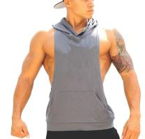 Panegy Tank Tops Men Bodybuilding Tanks Stringer Gym Sports Hooded Workout Sleeveless Shirt Stuff