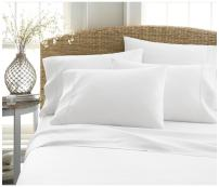 Becky Cameron ienjoy Home 6 Piece Double Brushed Microfiber Bed Sheet Set, King, White
