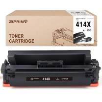 ZIPRINT (No Chip) Compatible Toner Cartridge Replacement for HP 414X W2020X 414A Use with Color Laserjet M454dw M454dn MFP M479fdw M479fdn (Black,1-Pack)