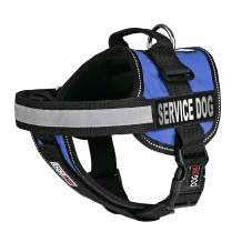 Dogline Unimax Service Dog Vest and Free Service Dog ID Badge with ADA Law, X-Small, Blue