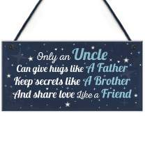 """Meijiafei Thank You Gifts for Uncle Birthday Sign Gifts for Uncle Friendship Gift from Niece Nephew Keepsake 10"""" X 5"""""""