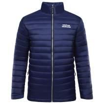 Outdoor Ventures Men's Packbale Puffer Jacket Full Zip Water-Resistant Insulated Jacket
