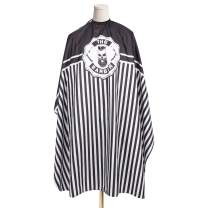 GreenLife Waterproof Hairdressing Gown Cutting Cape Salon Cape Hairdressing Cape Haircutting Apron Haircutting Capes Hair Cutting Dyeing Styling Cloth for Barber Use (1 Pcs Stripes and Skull)