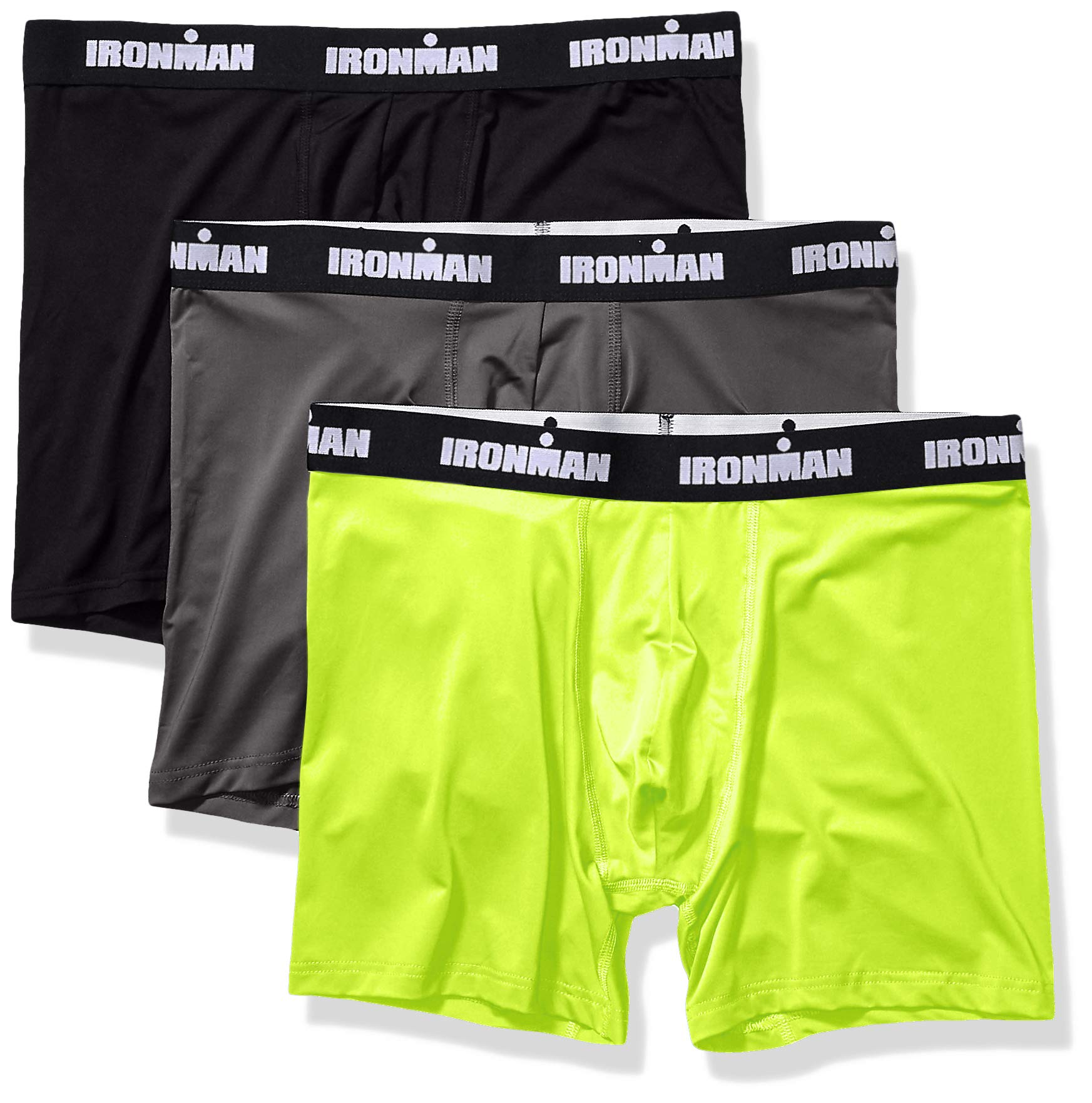 IRONMAN Men's Multipack Performance Boxer Brief