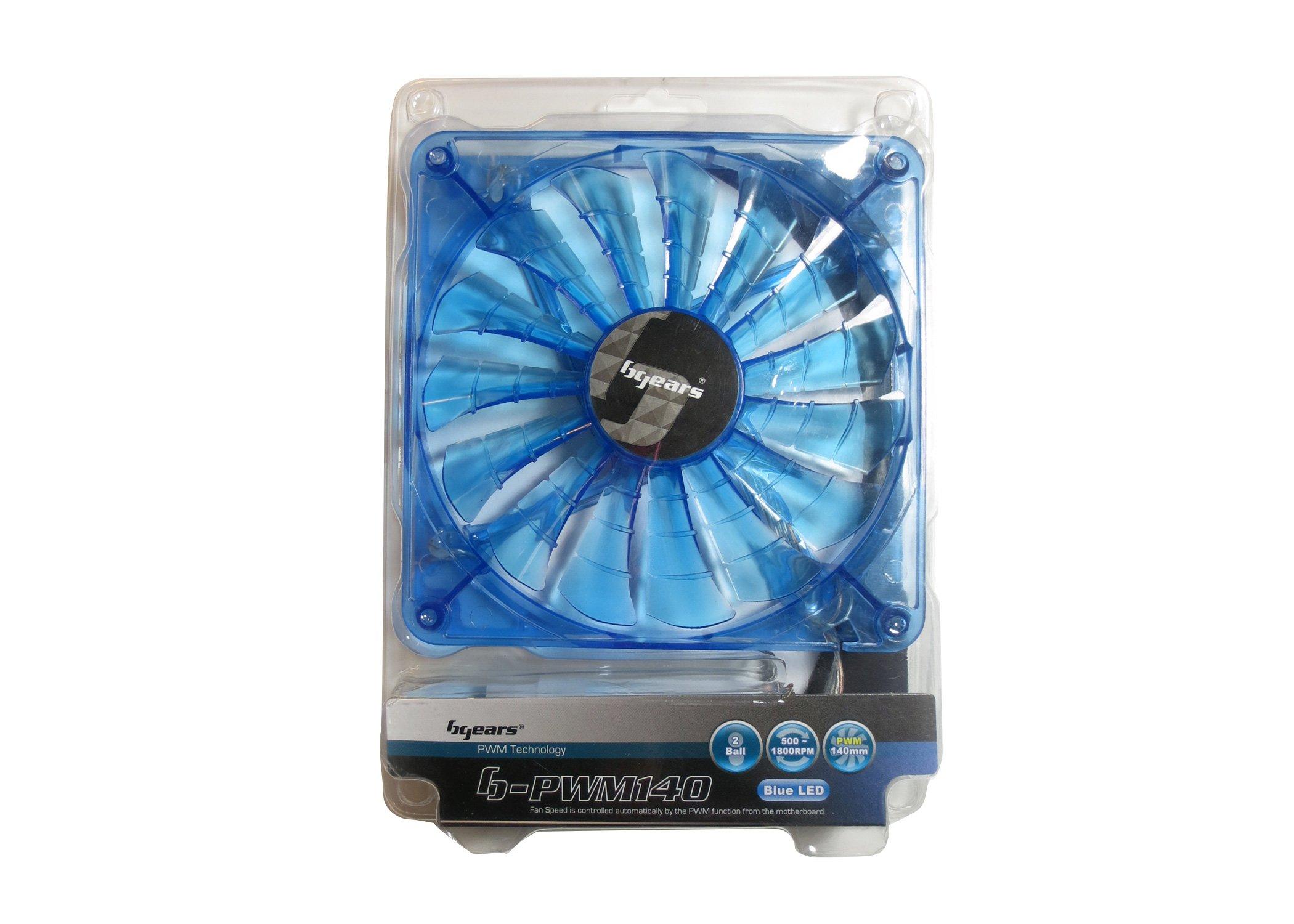 Bgears 140mm High Performance PWM Technology Fan - Translucent Blue (b-PWM 140 Blue 2ball)