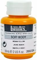 Liquitex 2002324 Professional Soft Body Acrylic Paint 2-oz jar, Indian Yellow