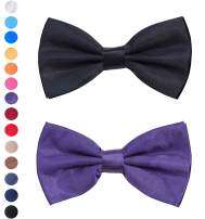 Bow Tie for men,Classic Pre-Tied Bow Tie Adjustable for Wedding Party,Formal Solid Tuxedo for Adults & Children