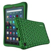Famavala Silicone Case Cover Compatible with All-New Fire 7 Tablet [9th Generation, 2019 Release] (DarkGreen)