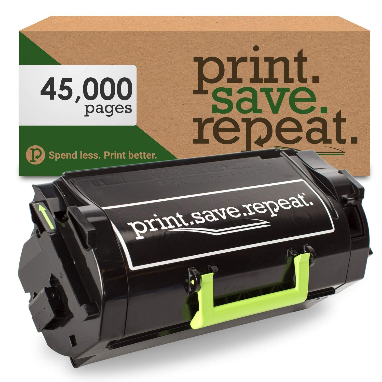 Print.Save.Repeat. Lexmark 520XA Extra High Yield Remanufactured Toner Cartridge for MS711, MS811, MS812 [45,000 Pages]