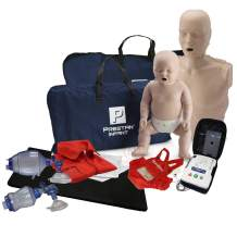 Adult and Infant CPR Manikin Kit with Feedback, Prestan UltraTrainer, CPR Training Bag Valve Mask (BVM) Adult/Child and Infant/NEONATE in Mesh Bags, and MCR Accessories