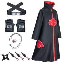 9-Piece Set Unisex Long Robe Halloween Cosplay Costume Cloak Uniform Headband Full Accessories